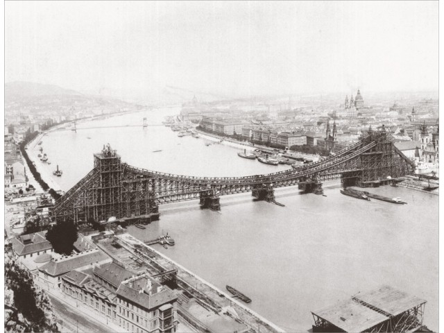 Budapest - Elizabeth bridge photo 1900