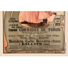 Bullfight placard 1913