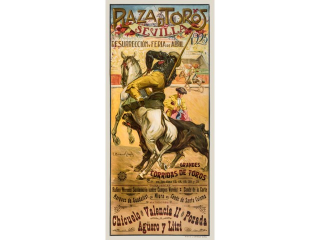 Bullfight placard 1925
