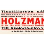Holzmann cleaner placard 1928