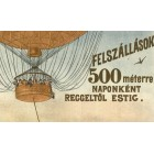 Hungarian airship placard 1896