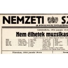 Hungarian National Theatre placard 1934