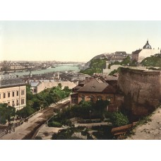 Budapest view photo 1900