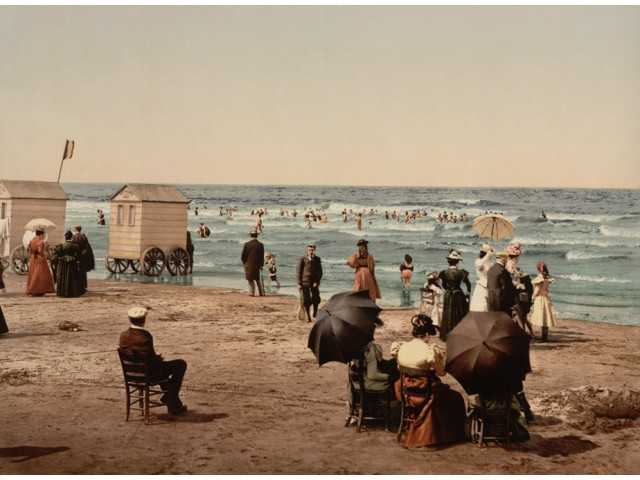 Blankenberge beach photo 1900