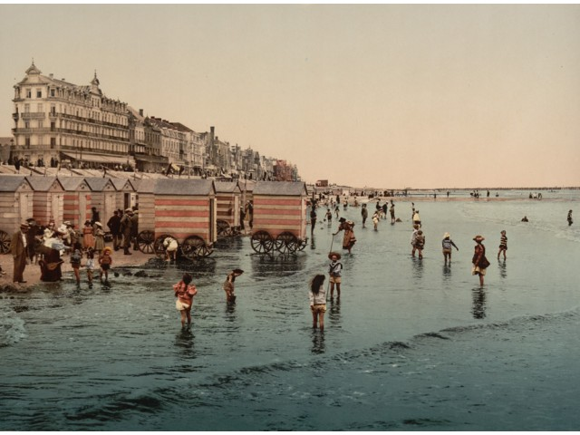 Blankenberge beach photo 1900 (2)