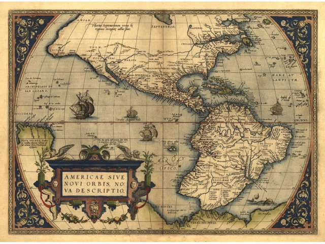 Map of America 1570