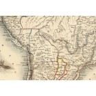 Map of South America 1851