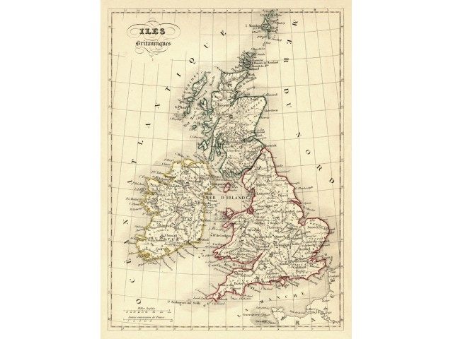 Map of British isles 1843