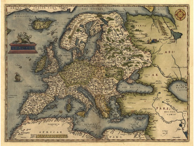 Map of Europe 1570
