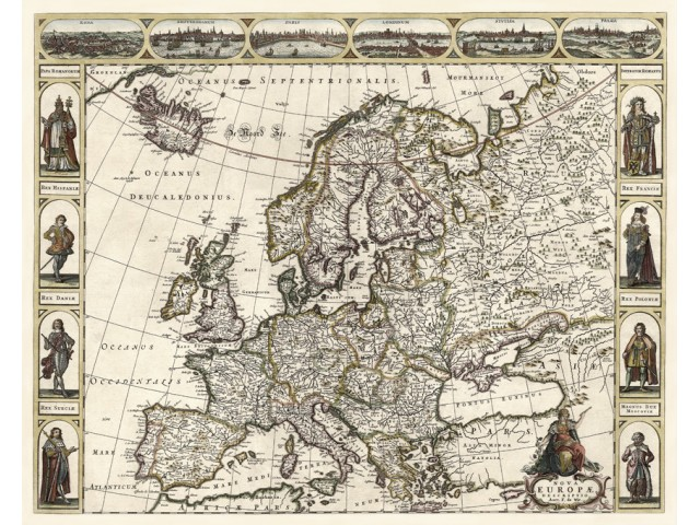 Map of Europe 1660