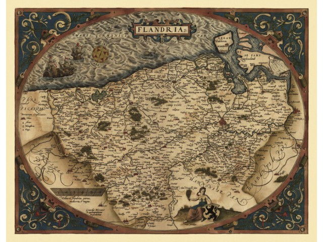 Map of Flandria 1570