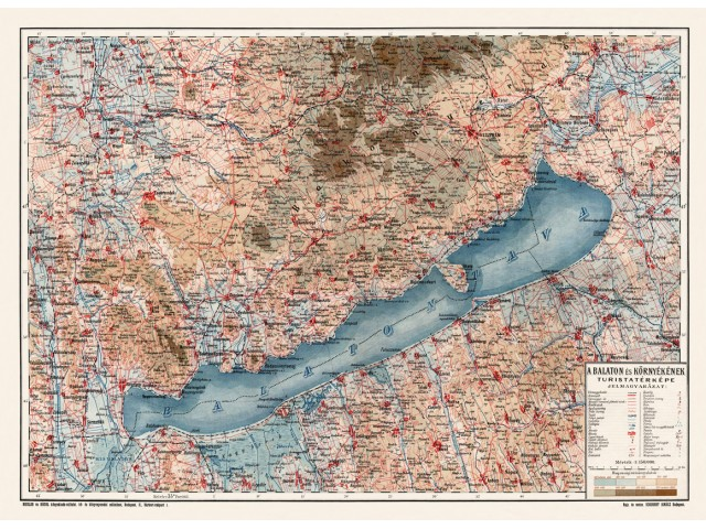 Map of Balaton 1900
