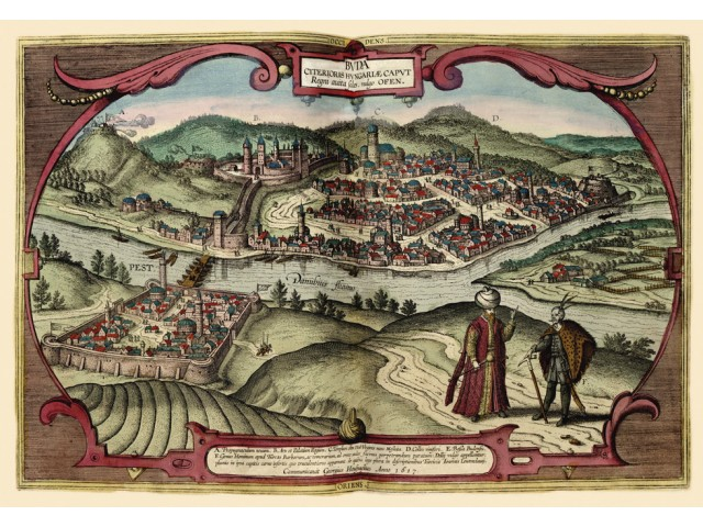 Map of Buda and Pest 1617