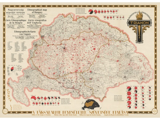 Ethnographical map of Hungary 1920