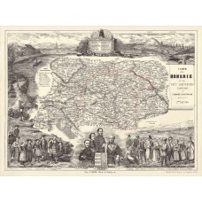 Map of Hungary 1848 (french)