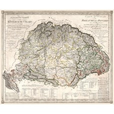 Map of Hungary 1805