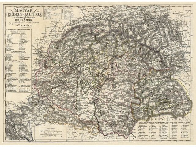Map of Hungary 1821