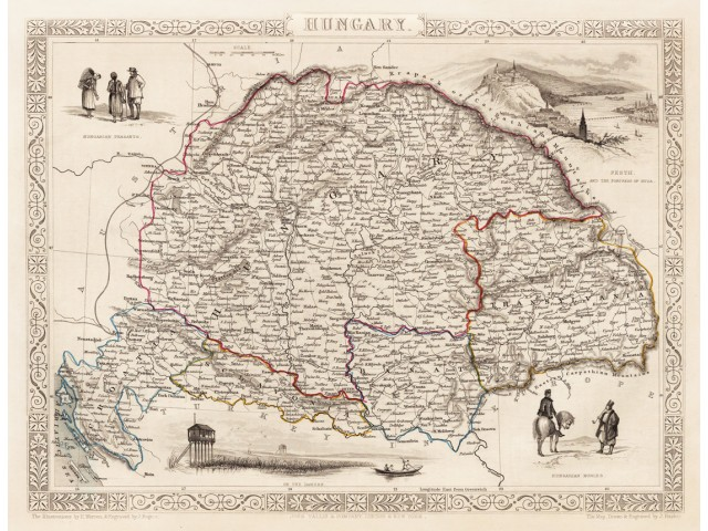 Map of Hungary 1851