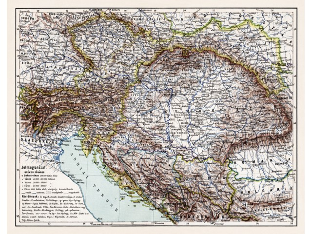 Map of Austro-Hungarian monarchy 1986