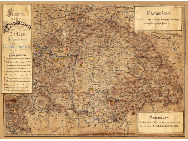 Map of Hungary 1860 (War of Independence)