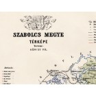 Map of Szabolcs county 1889