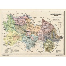 Map of Szatmár county 1905