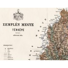 Map of Zemplén county 1888