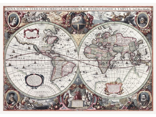Map of World 1630 (Hondius)