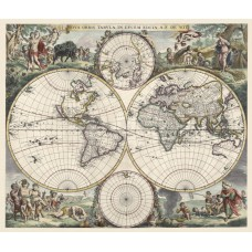 Map of World 1660