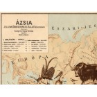 Asia map 1928, animals