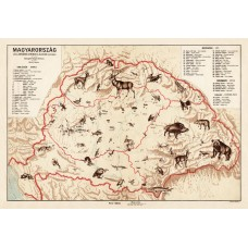 Hungary map 1928, animals