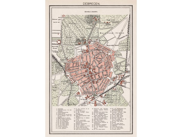 Map of Debrecen 1894