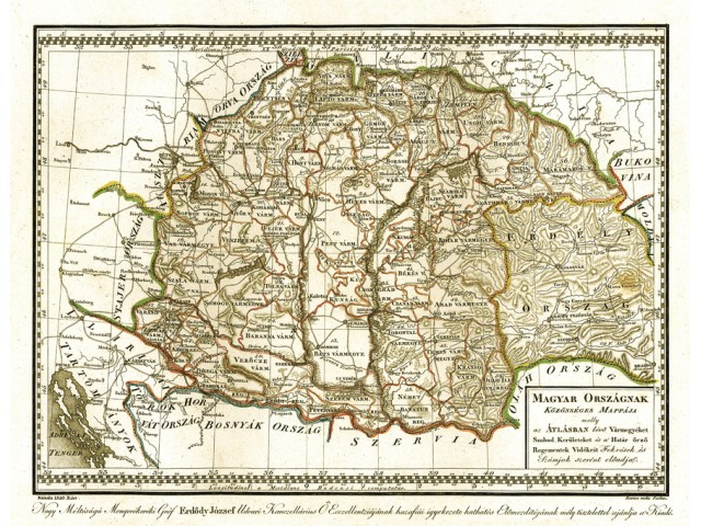 Map of Hungary 1810