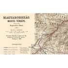 Map of Hungary 1890
