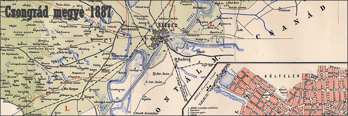 Map of Csongrád 1887