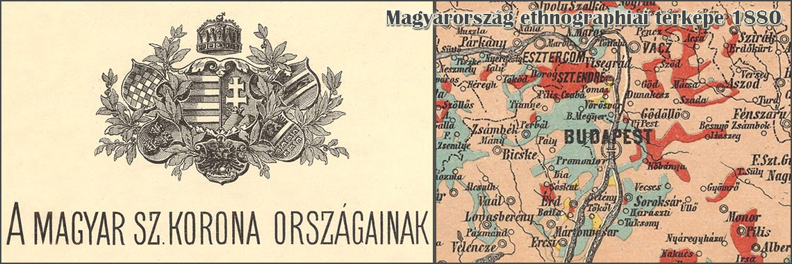 Map of Hungary 1880